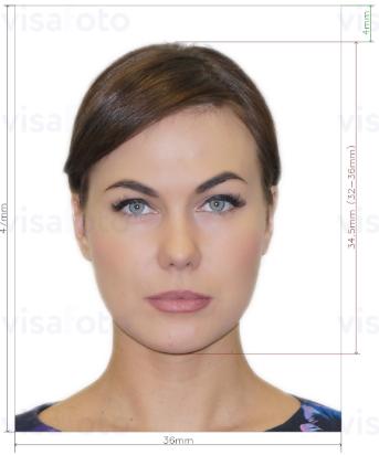 Виза и е-виза в Албанию 47x36 мм